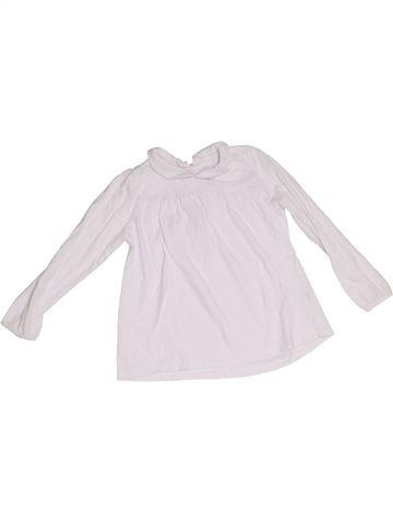 T-shirt manches longues fille BOUT'CHOU blanc 3 ans hiver #1365886_1