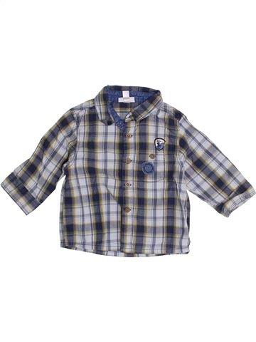 Chemise manches longues garçon VERTBAUDET gris 9 mois hiver #1366191_1