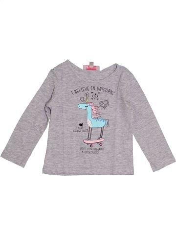 Camiseta de manga larga niña LISA ROSE gris 2 años invierno #1366460_1