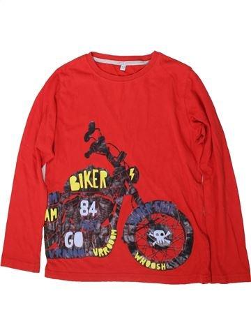 T-shirt manches longues garçon MARKS & SPENCER rouge 7 ans hiver #1366502_1