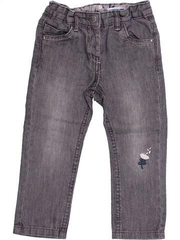Pantalon fille VERTBAUDET gris 2 ans hiver #1366593_1