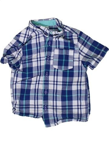 Chemise manches courtes garçon F&F bleu 4 ans été #1366652_1