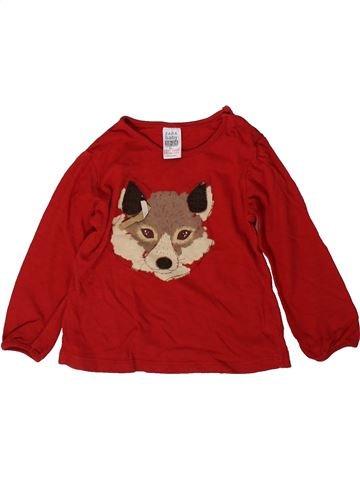 Camiseta de manga larga niña ZARA BABY rojo 2 años invierno #1367133_1