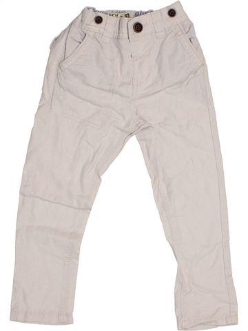 Pantalon garçon NEXT blanc 3 ans été #1367260_1
