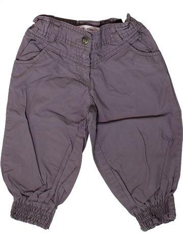 Pantalon fille GEMO gris 3 ans été #1367316_1
