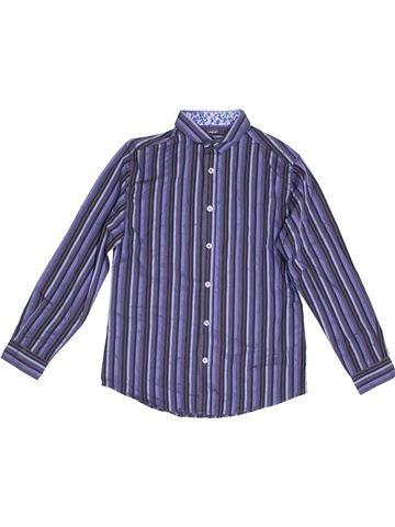Chemise manches longues garçon MARKS & SPENCER bleu 11 ans hiver #1367624_1