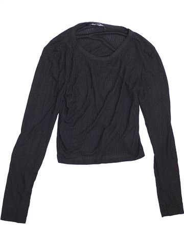 T-shirt manches longues fille NEW LOOK noir 15 ans hiver #1368104_1