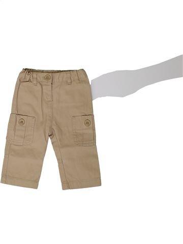 Pantalon garçon PETIT BATEAU beige 6 mois hiver #1368218_1