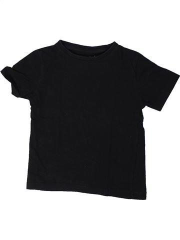 T-shirt manches courtes garçon GEMO noir 4 ans été #1368315_1