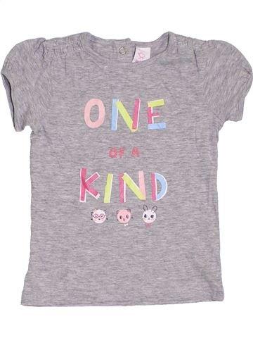T-shirt manches courtes fille C&A gris 3 ans été #1368547_1