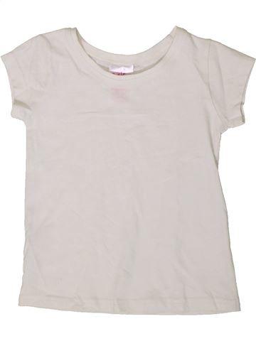 T-shirt manches courtes fille E-VIE ANGEL blanc 3 ans été #1368823_1