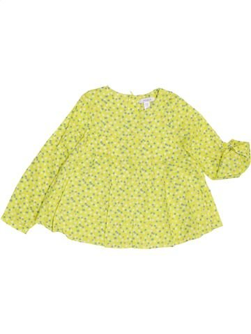 Blouse manches longues fille OKAIDI jaune 4 ans hiver #1368895_1