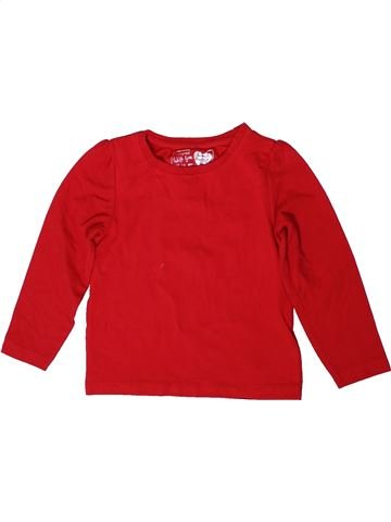 T-shirt manches longues fille PRIMARK rouge 4 ans hiver #1368910_1
