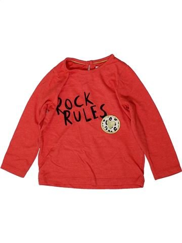 T-shirt manches longues fille MARKS & SPENCER rouge 2 ans hiver #1368942_1