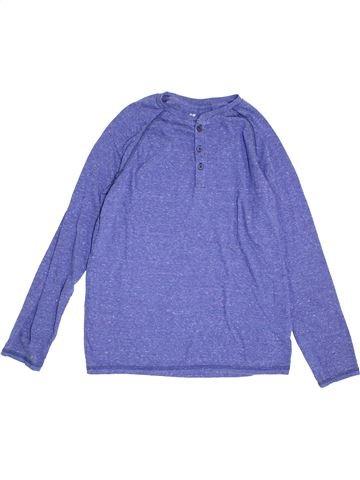 T-shirt manches longues garçon H&M violet 14 ans hiver #1368949_1