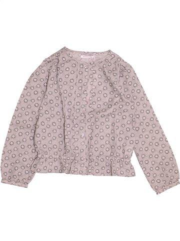 Blusa de manga larga niña MONOPRIX gris 8 años invierno #1368958_1