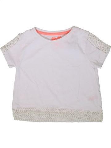 T-shirt manches courtes fille F&F blanc 7 ans été #1368959_1