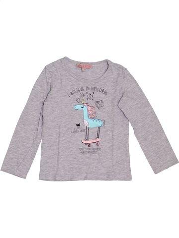 T-shirt manches longues fille LISA ROSE gris 3 ans hiver #1369001_1