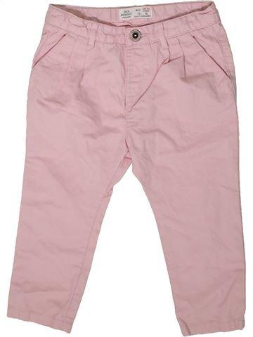 Pantalon fille ZARA rose 2 ans hiver #1369383_1