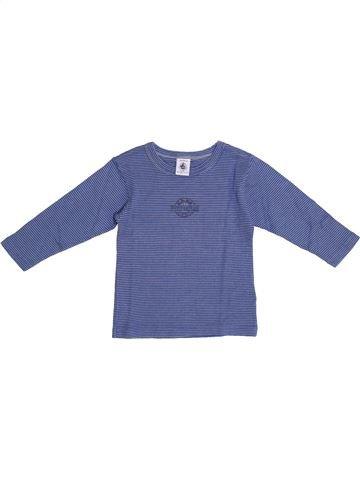 T-shirt manches longues garçon PETIT BATEAU bleu 2 ans hiver #1369522_1