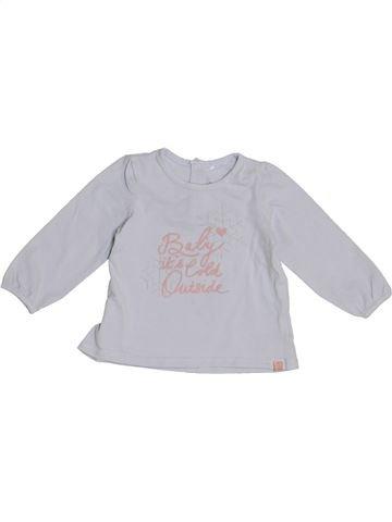 T-shirt manches longues fille JBC gris 6 mois hiver #1369563_1