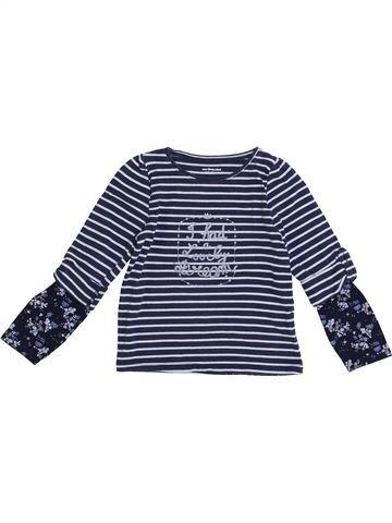 Camiseta de manga larga niña VERTBAUDET gris 4 años invierno #1369702_1