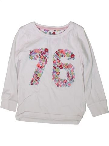 T-shirt manches longues fille F&F blanc 5 ans hiver #1369870_1