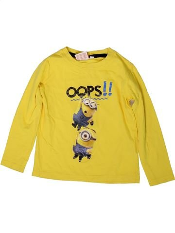 T-shirt manches longues garçon LES MINIONS jaune 5 ans hiver #1369882_1