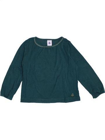 T-shirt manches longues fille PETIT BATEAU vert 3 ans hiver #1370120_1