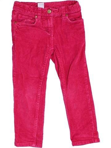 Pantalon fille PETIT BATEAU rose 3 ans hiver #1370124_1