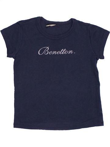 Camiseta de manga corta niña BENETTON azul 2 años verano #1370166_1