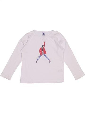 Camiseta de manga larga niña PETIT BATEAU blanco 5 años invierno #1370292_1