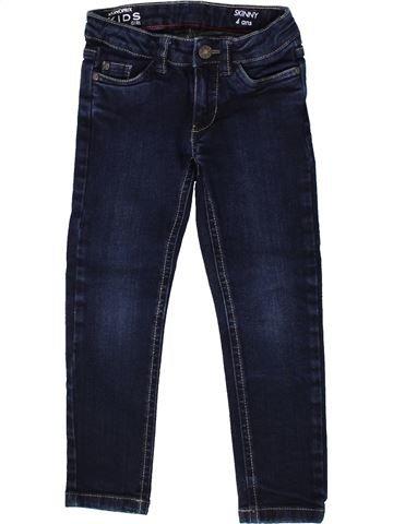 Tejano-Vaquero niña MONOPRIX azul oscuro 4 años invierno #1370395_1