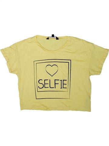 T-shirt manches courtes fille NEW LOOK beige 15 ans été #1370546_1