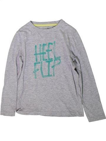 T-shirt manches longues garçon LA REDOUTE CRÉATION gris 8 ans hiver #1370555_1