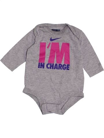 T-shirt manches longues fille NIKE gris 3 mois hiver #1370598_1