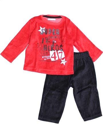 Pijama de 2 piezas niño GEMO rojo 2 años invierno #1370652_1