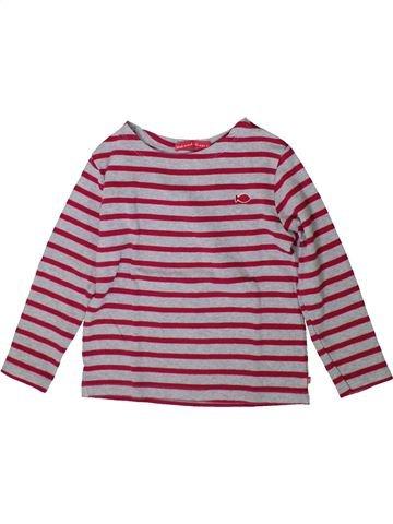 T-shirt manches longues fille WEEK END A LA MER violet 4 ans hiver #1370786_1