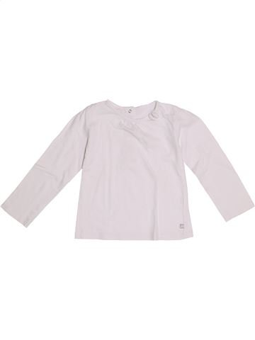 T-shirt manches longues fille GEMO blanc 3 ans hiver #1370902_1