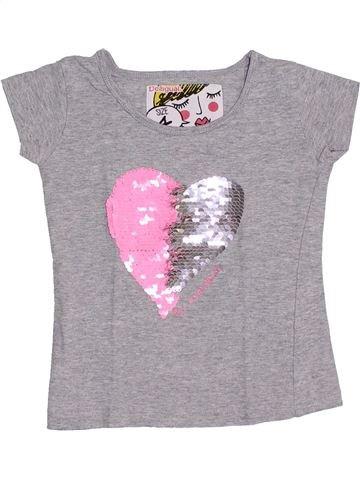 T-shirt manches courtes fille DESIGUAL gris 4 ans été #1370913_1