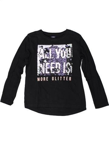 T-shirt manches longues fille KIABI noir 8 ans hiver #1370979_1