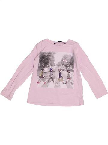 T-shirt manches longues fille LILI GAUFRETTE rose 2 ans hiver #1371120_1