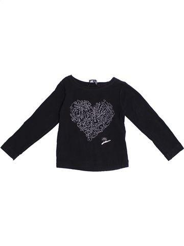 T-shirt manches longues fille LILI GAUFRETTE noir 2 ans hiver #1371130_1