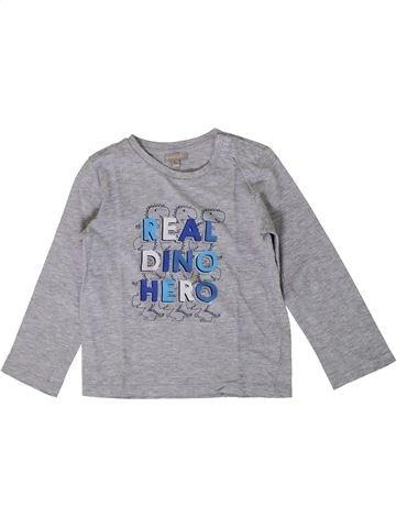 T-shirt manches longues garçon GRAIN DE BLÉ gris 4 ans hiver #1371132_1