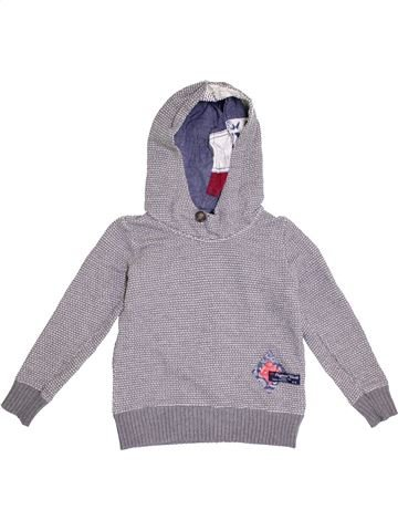 Pull fille IKKS gris 8 ans hiver #1371143_1