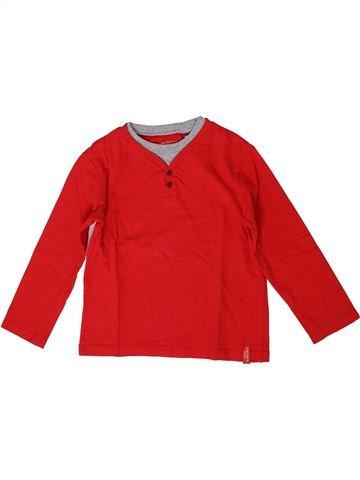 T-shirt manches longues garçon OKAIDI rouge 4 ans hiver #1371150_1