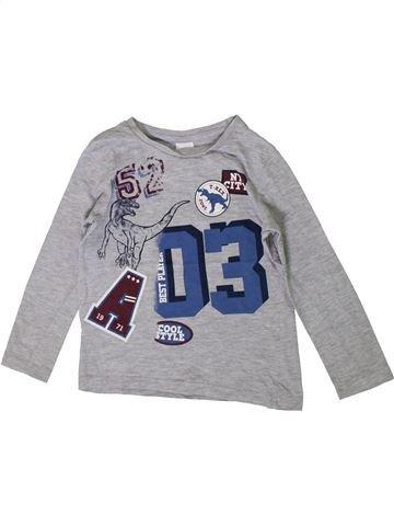 T-shirt manches longues garçon C&A gris 5 ans hiver #1371192_1