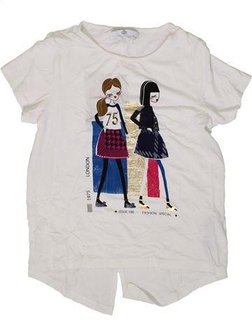T-shirt manches courtes fille MARKS & SPENCER blanc 10 ans été #1371231_1