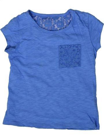 T-shirt manches courtes fille MARKS & SPENCER bleu 7 ans été #1371297_1