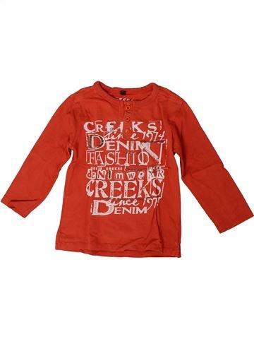T-shirt manches courtes garçon CREEKS rouge 4 ans été #1371436_1
